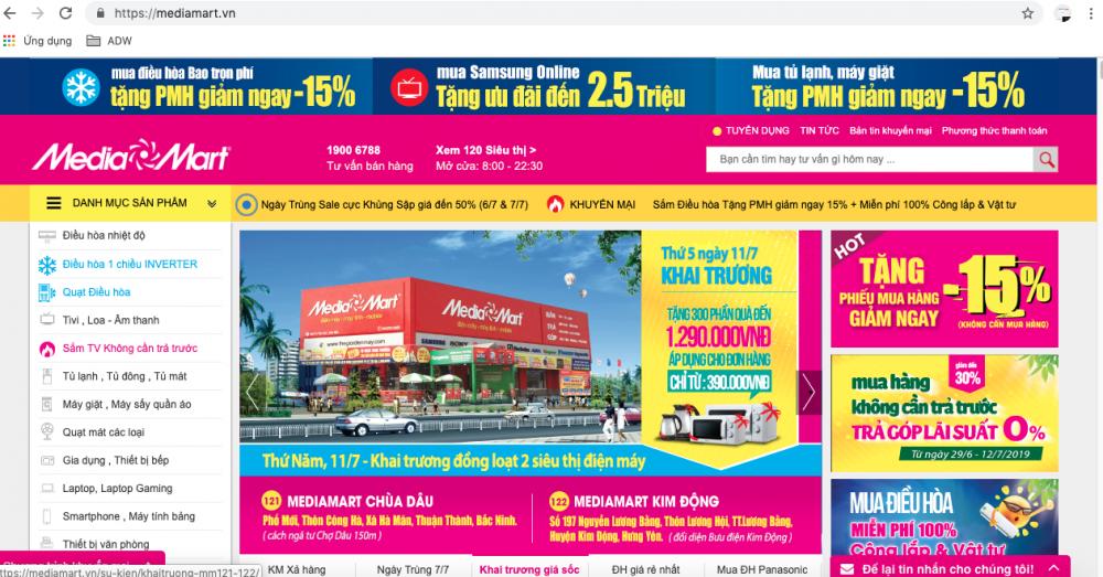 Các trang thiết kế web thương mại điện tử mới nhất 2020
