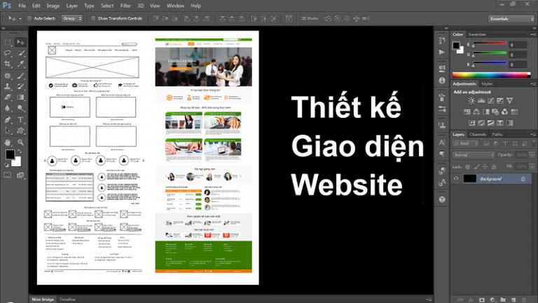 Giáo trình thiết kế web bằng photoshop là gì ? Các giáo trình thiết kế web bằng photoshop mới nhất 2020