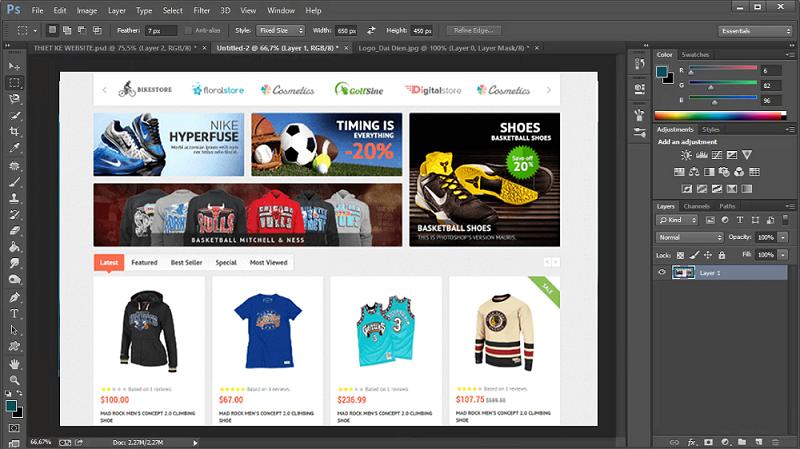 Hướng dẫn cách thiết kế giao diện web bằng photoshop mới nhất 2020