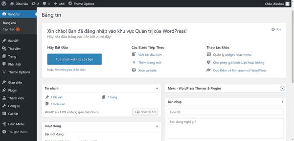 Hướng dẫn thiết kế web wordpress toàn tập mới nhất 2020