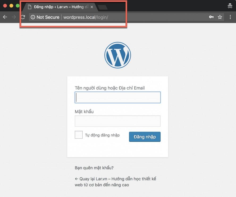 Thay đổi Link đăng Nhập WordPress