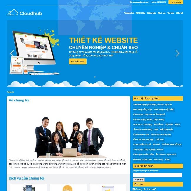 Mẫu thiết kế web giá rẻ 05