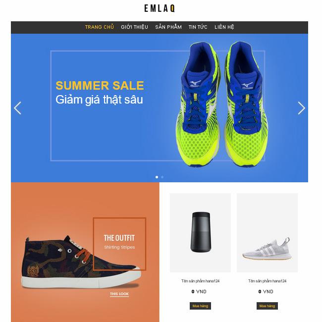 Mẫu thiết kế web giá rẻ 06