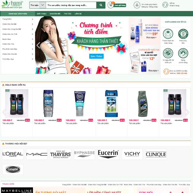 Mẫu thiết kế web giá rẻ 01