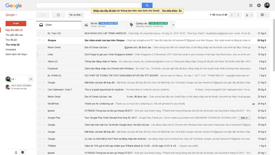 Hướng dẫn các cách lập địa chỉ gmail mới nhất 2020