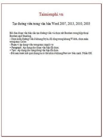 Hướng dẫn cách trang trí văn bản mới nhất 2020