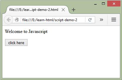 Khai Báo Javascript Trong Html