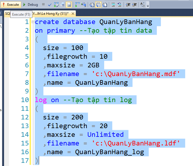 Tổng hợp cách tạo database trong sql mới nhất 2020