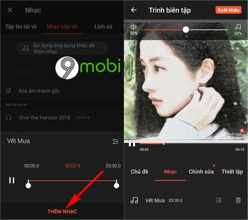 huong dan ghep nhac vao video tren dien thoai 6