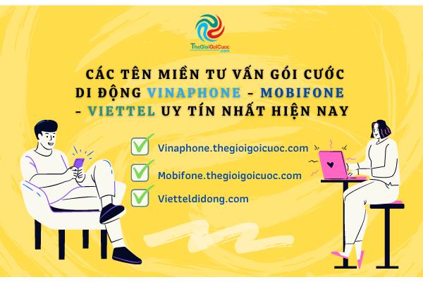 Các tên miền tư vấn gói cước di động Vinaphone – Mobifone – Viettel uy tín nhất hiện nay.thegioigoicuoc.com