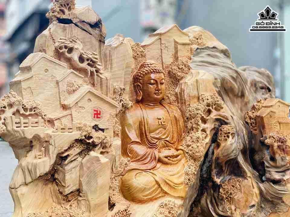 Tượng Phật Tổ Gỗ