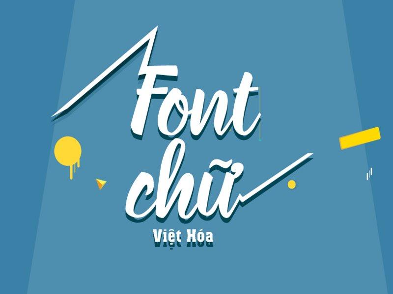 Sở hữu trọn bộ font chữ Việt hóa cho Photoshop